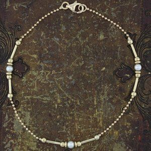 Jewelry - 14K Pearls and Beads Bracelet or Anklet.